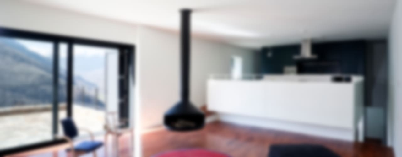 Pyrenees Salones de estilo moderno de Cadaval & Solà-Morales Moderno