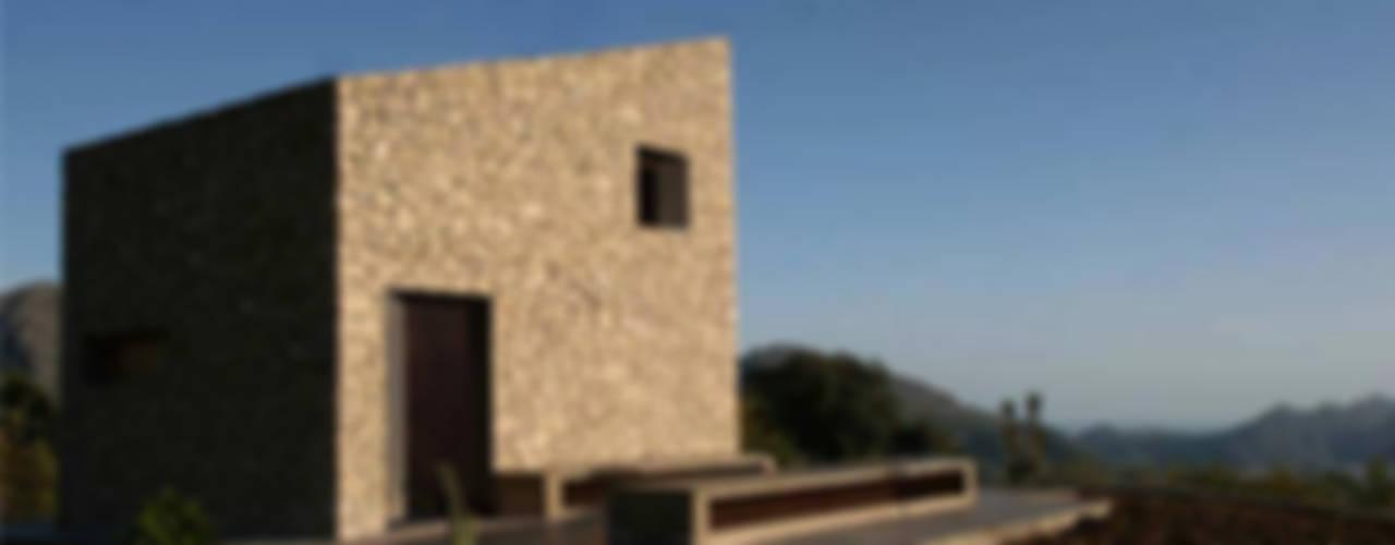 Refugio de montaña Casas de estilo rural de Borja Garcia Studio Rural