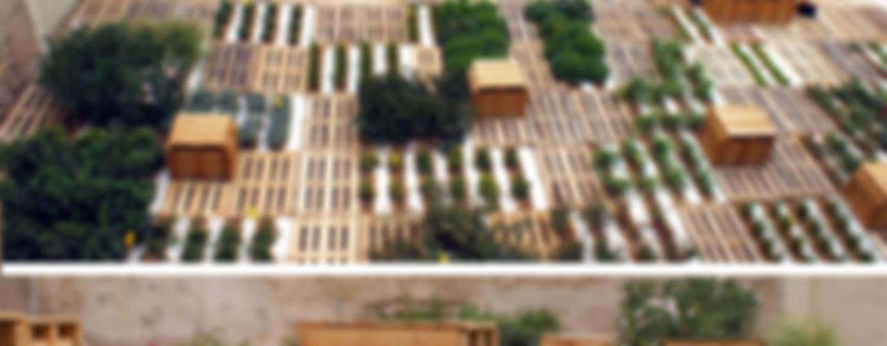 estonoesunsolar Jardines de estilo ecléctico de Gravalosdimonte Arquitectos Ecléctico