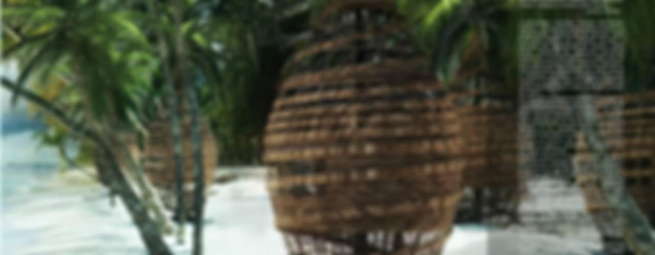 Tree houses in paradise Case eclettiche di Five Core Eclettico