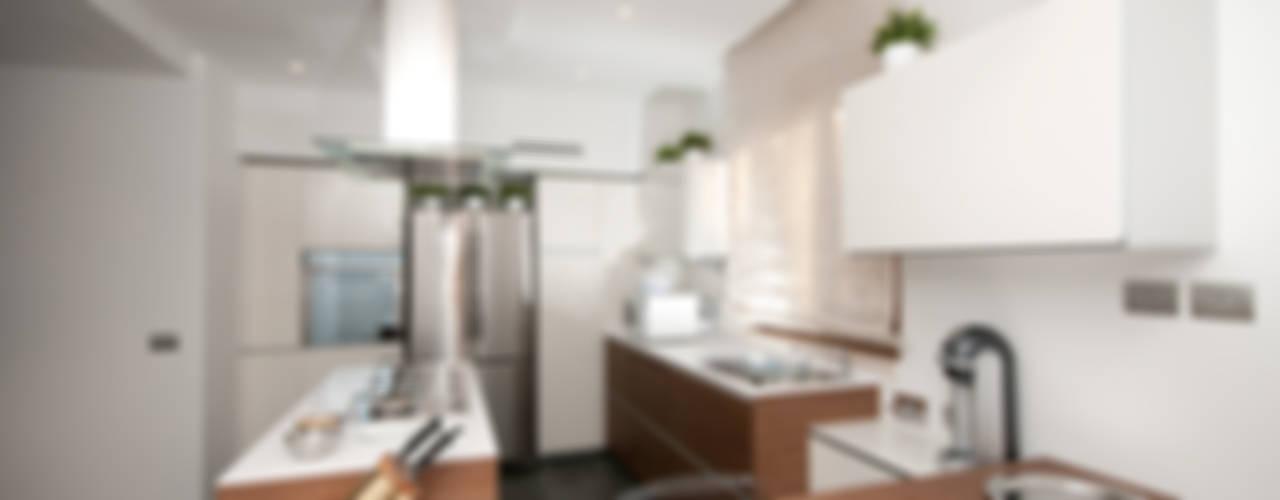 Ristrutturazione di una villa bifamiliare su tre livelli in Roma - 240 mq Cucina moderna di Fabiola Ferrarello Moderno