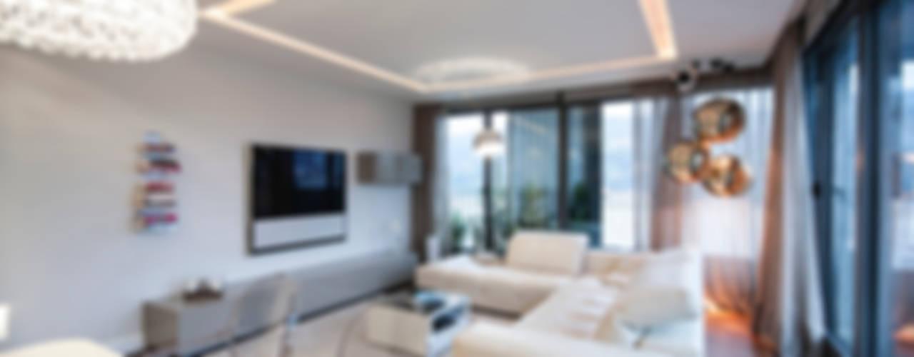Vivienda Domótica Guggenheim M&P Estudios y despachos de estilo mediterráneo de Muka Design Lab Mediterráneo