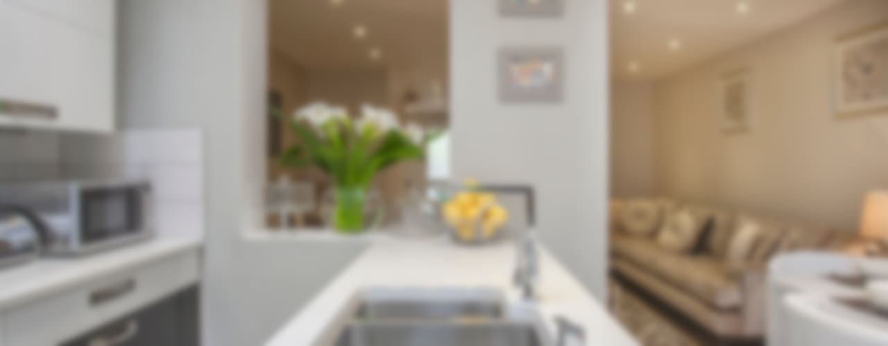Kitchen/dining - Canary Wharf Modern kitchen by Millennium Interior Designers Modern