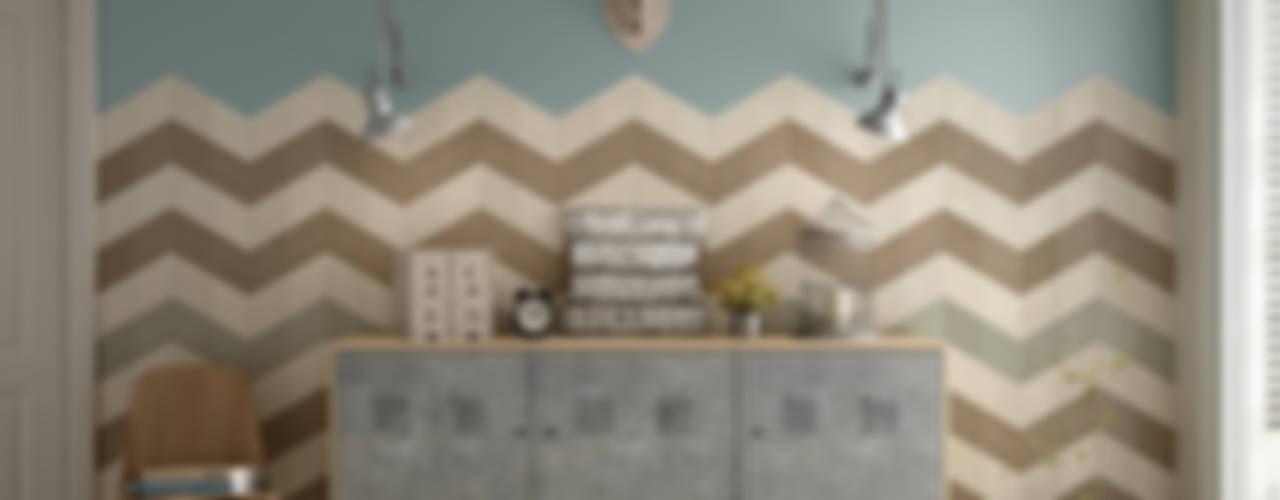 Equipe Ceramicas Paredes y pisos de estilo ecléctico