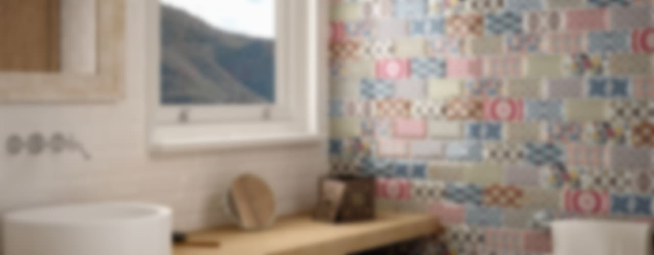 Baños de estilo  por Equipe Ceramicas, Mediterráneo