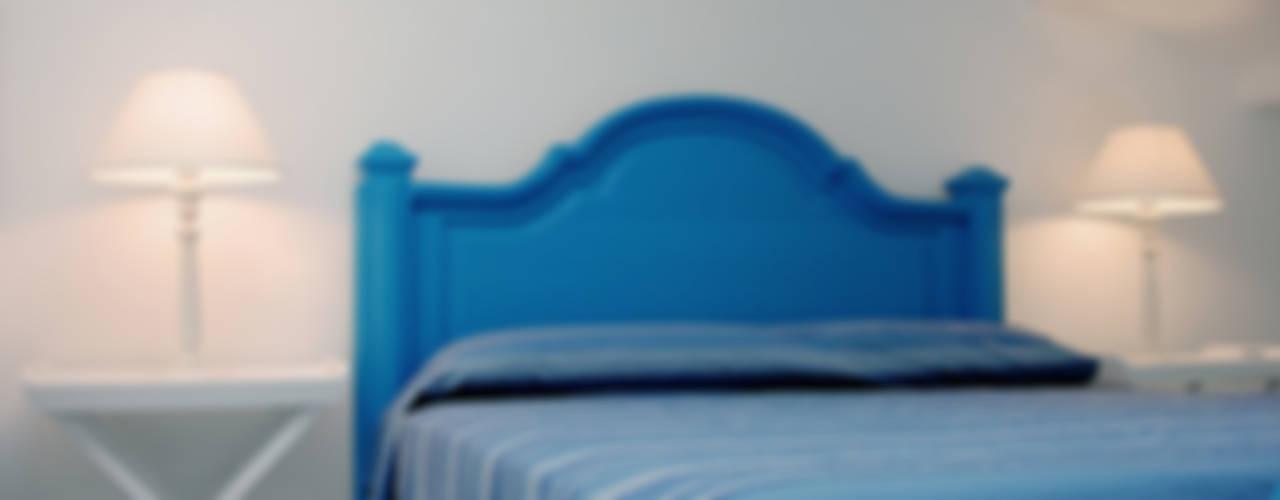 VILLA (ANZIO - RM) Camera da letto in stile mediterraneo di Studio Guerra Sas Mediterraneo