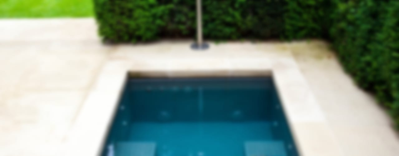 Twin Plunge Pools Piscinas de estilo colonial de London Swimming Pool Company Colonial