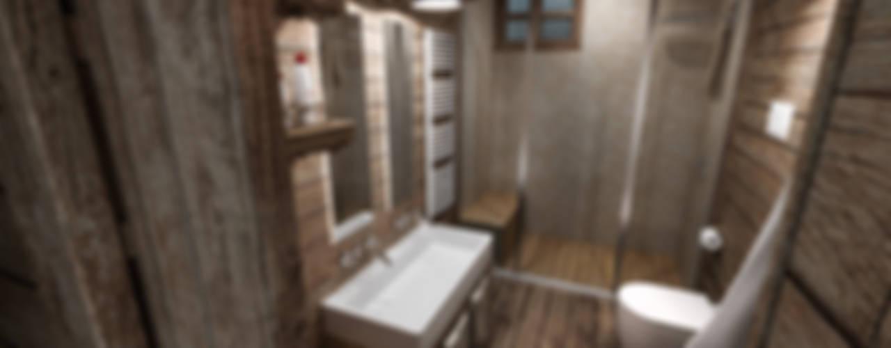 Rustic style bathroom by studiosagitair Rustic