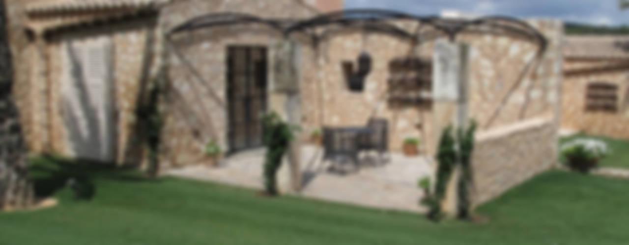 Son Fornes, Majorca Mediterranean style balcony, veranda & terrace by 4D Studio Architects and Interior Designers Mediterranean