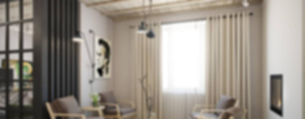 трехкомнатная квартира: Гостиная в . Автор – цуккини,