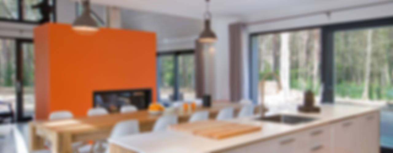Maison ossature bois Cuisine moderne par blackStones Moderne