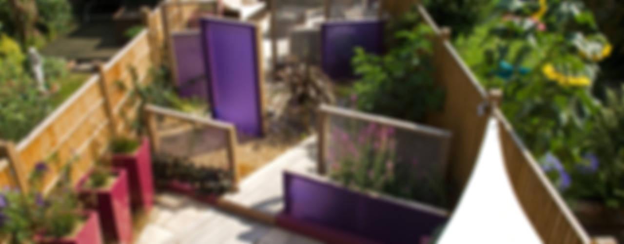Party garden in Sevenoaks, Kent Сад в стиле модерн от Earth Designs Модерн