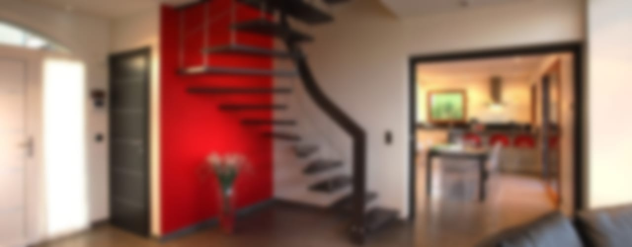 Ingresso, Corridoio & Scale in stile moderno di ASCENSO Moderno