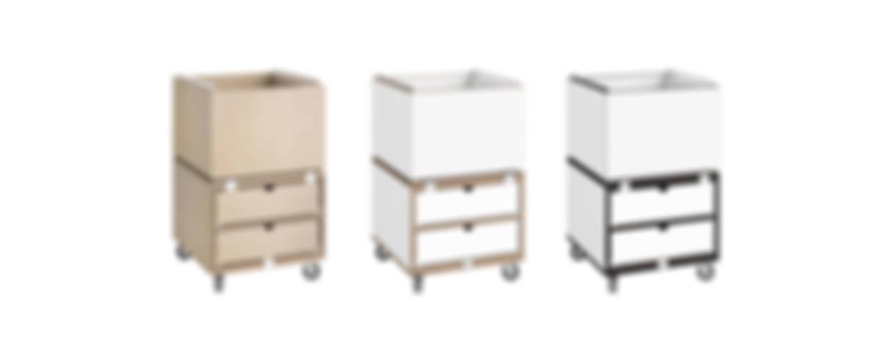 Regalsystem fürs Büro: modern  von stocubo - Das modulare Regalsystem,Modern
