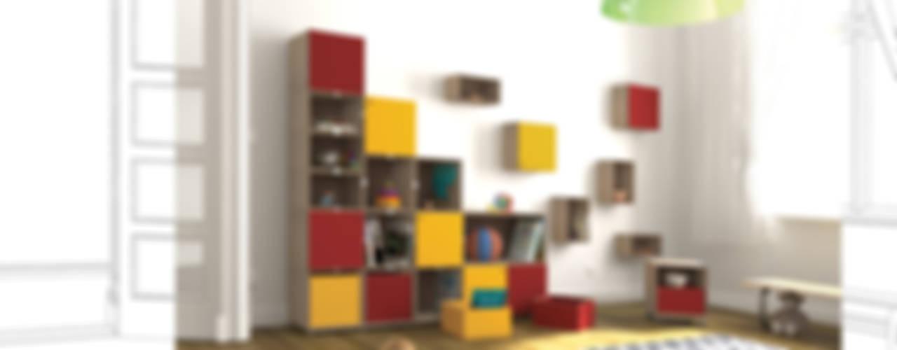 Quarto infantil moderno por stocubo - Das modulare Regalsystem Moderno