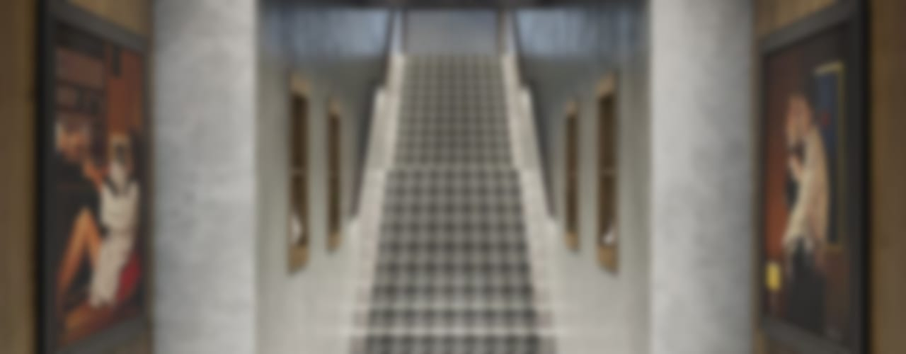Houndstooth modern patterned carpet de LUXEcarpet Moderno