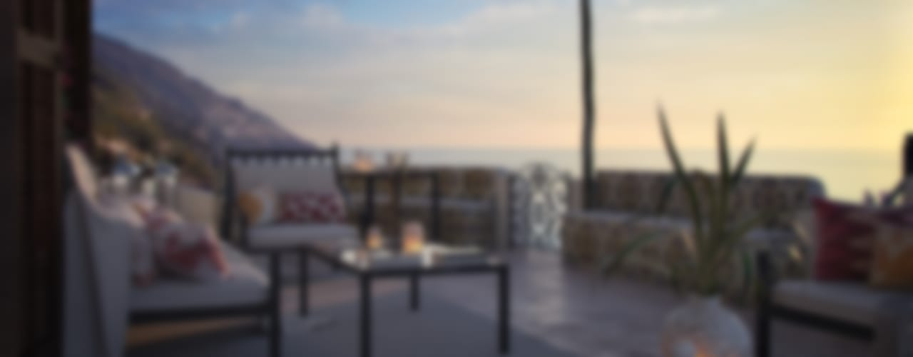 Balcon, Veranda & Terrasse méditerranéens par Vittorio Bonapace 3D Artist and Interior Designer Méditerranéen
