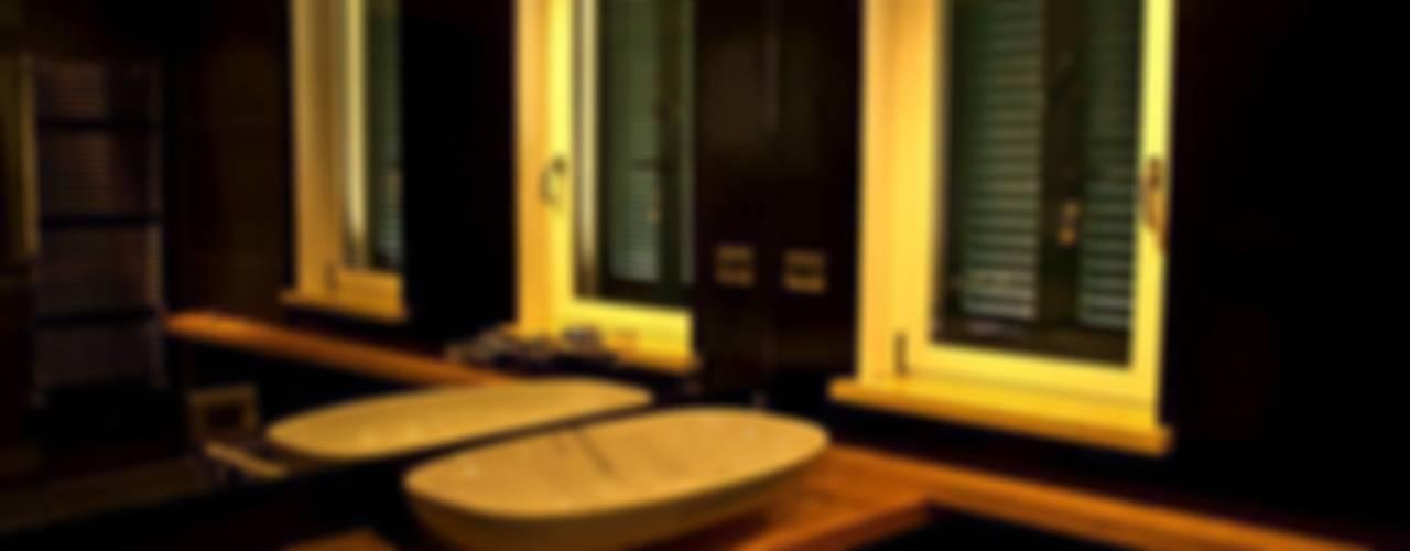 インダストリアルスタイルの お風呂 の deltastudio インダストリアル