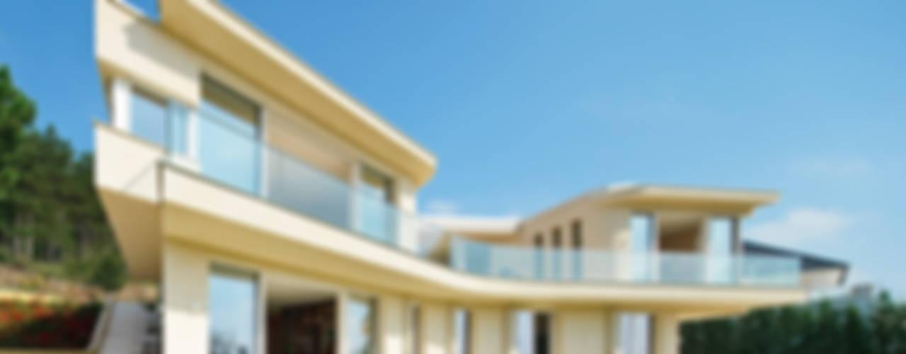 Haus GF Mediterrane Häuser von t-hoch-n Architektur Mediterran