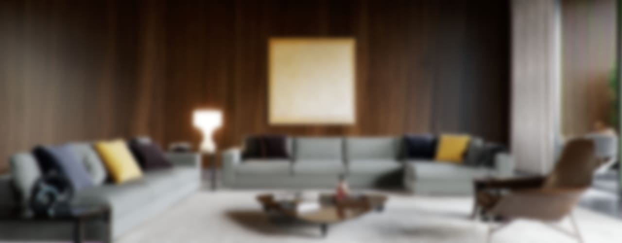 Minotti space Modern Oturma Odası Architectural Visualization Modern
