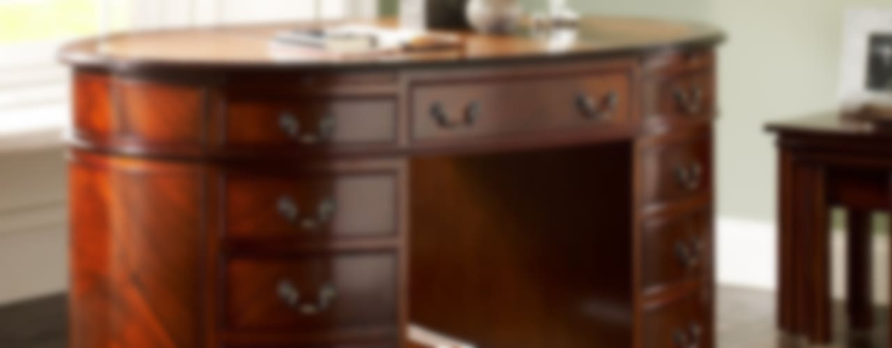 Antique Reproduction Oval Desk: classic  by Parklane Furniture, Classic