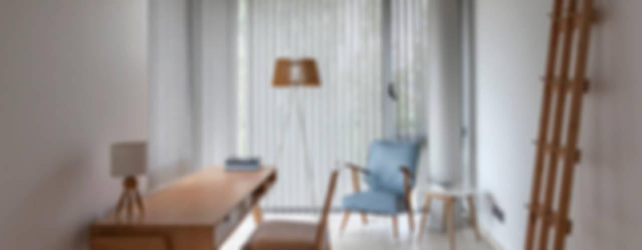 CASA HARAS Estudios y oficinas modernos de ESTUDIO GEYA Moderno