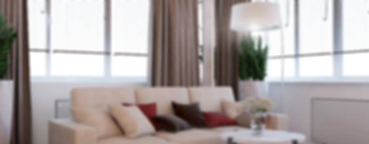 Дизайн-проект квартиры г. Екатеринбург ЖК Крыловъ: Гостиная в . Автор – Частный дизайнер и декоратор Девятайкина Софья,
