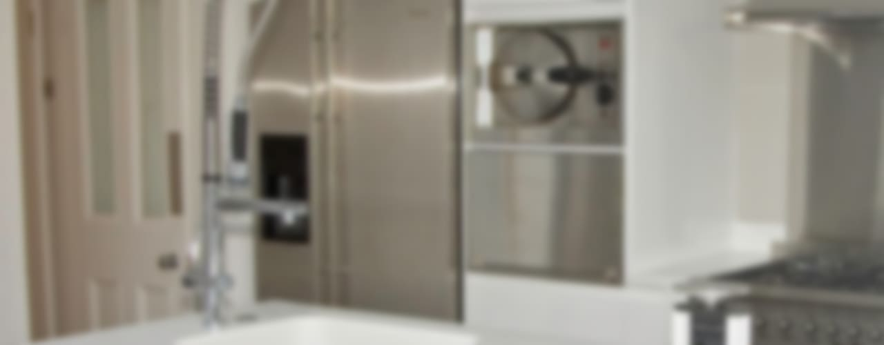 White transformation Modern kitchen by Greengage Interiors Modern