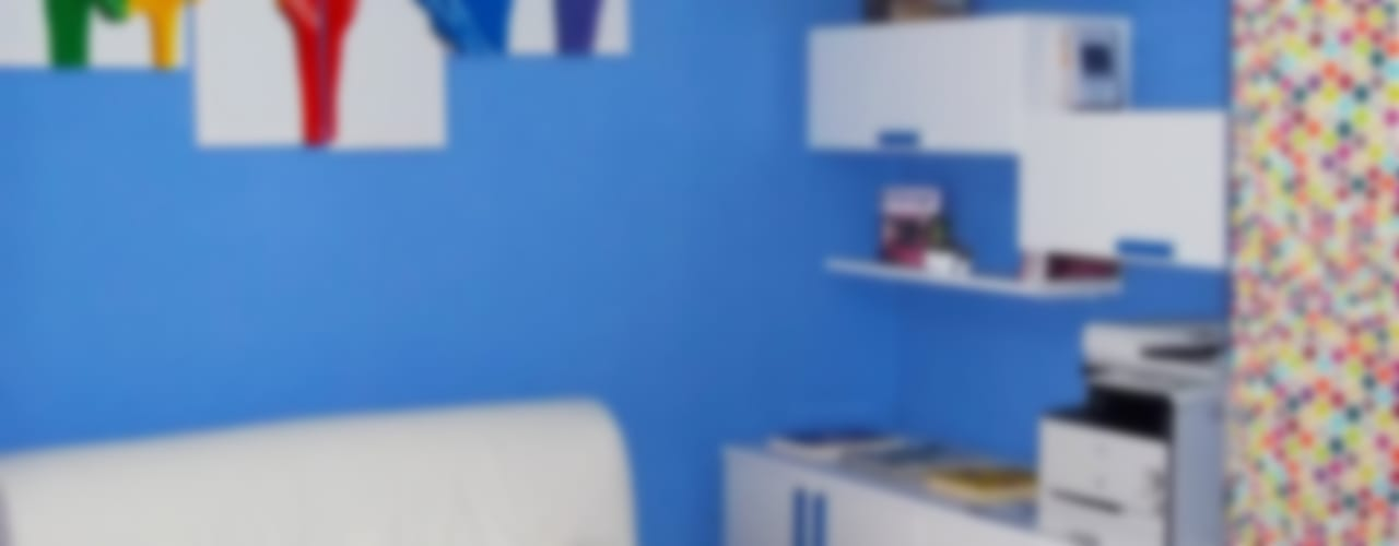 blucactus design Studio의  서재 & 사무실, 에클레틱 (Eclectic)