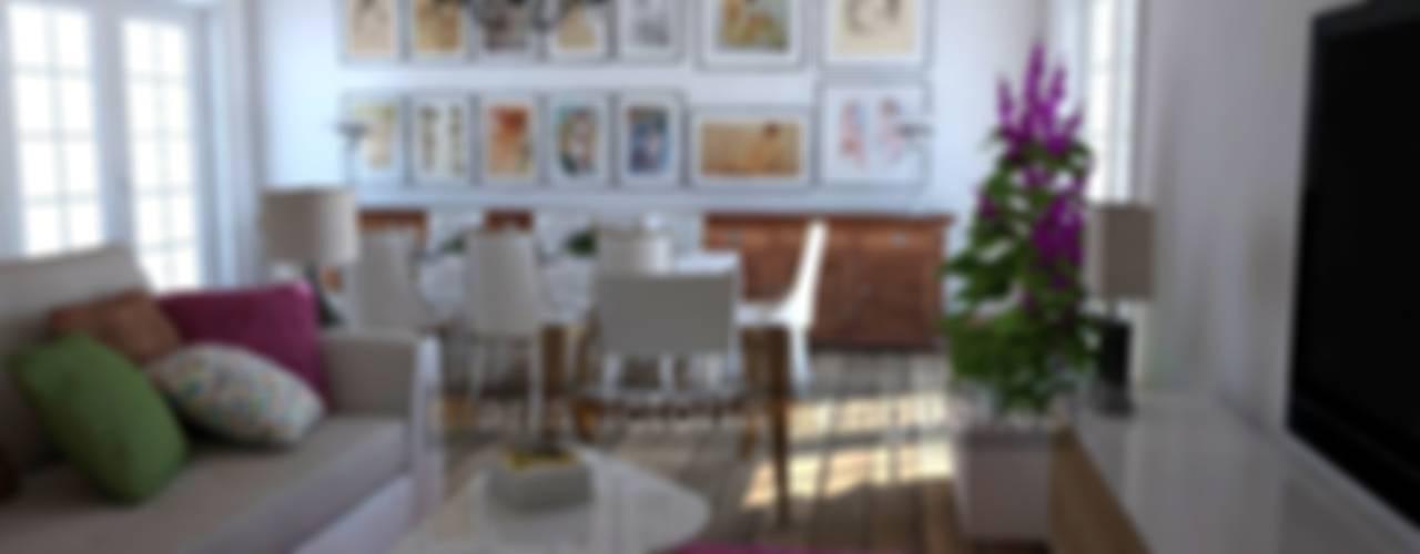 Salas de estar ecléticas por MUMARQ ARQUITECTURA E INTERIORISMO Eclético