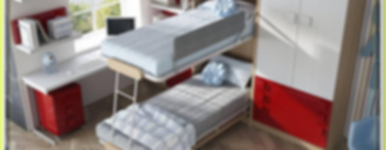 Camas Abatibles para paredes de pladur. literas plegables de Muebles Parchis. Dormitorios Juveniles. Moderno