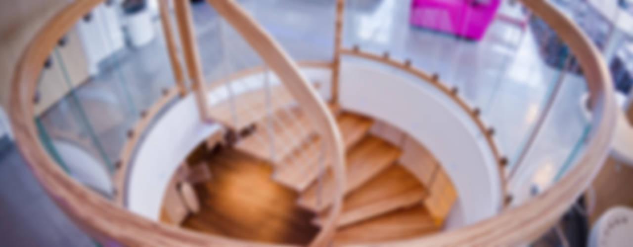 Bogentreppe: modern  von Keller Treppenbau AG,Modern