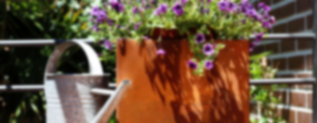 Design pots in Corten Steel de CLASS MANUFACTURING SA