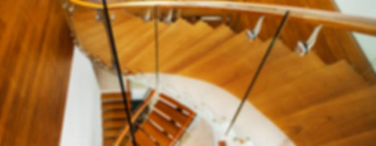 Meera House Pasillos, vestíbulos y escaleras de estilo moderno de Guz Architects Moderno