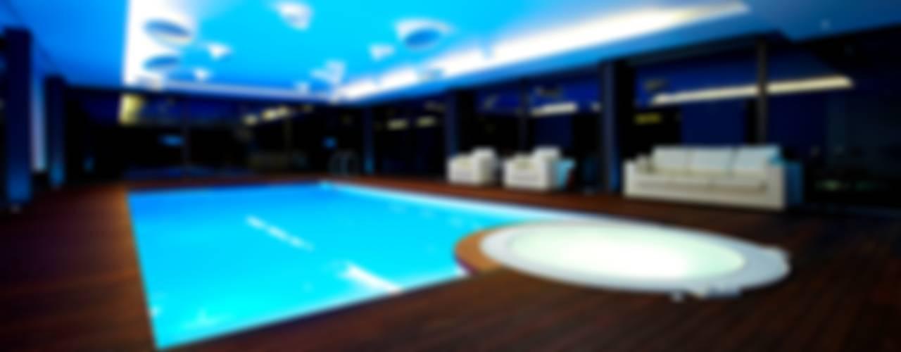 Minimalistyczny basen od Risco Singular - Arquitectura Lda Minimalistyczny