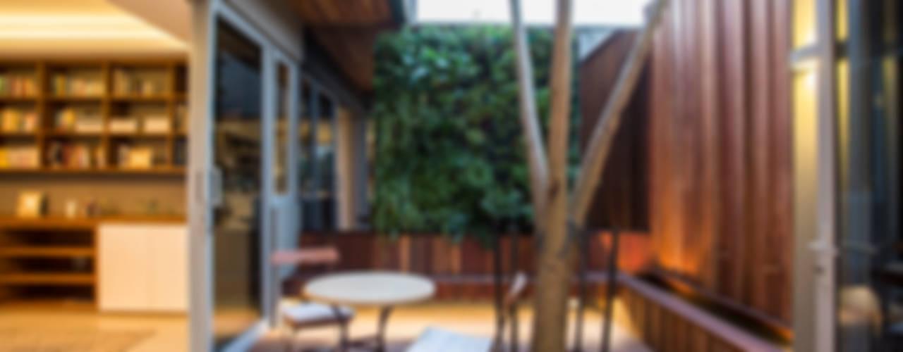 Albizia House Metropole Architects - South Africa Modern balcony, veranda & terrace