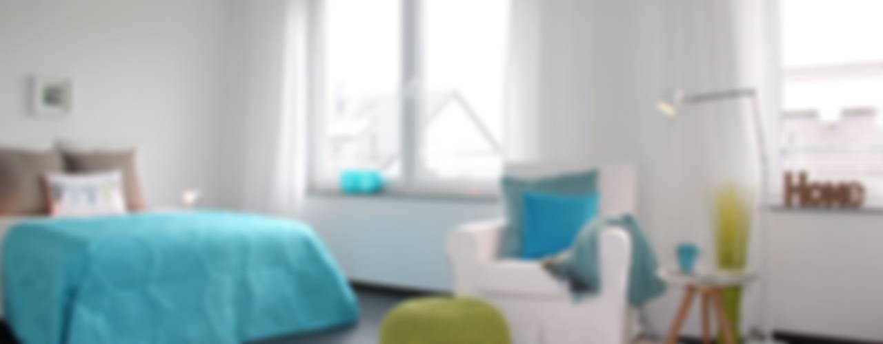 Home Staging leere Immobilie Maisonette-Wohnung Mediterrane Schlafzimmer von raumwerte Home Staging Mediterran