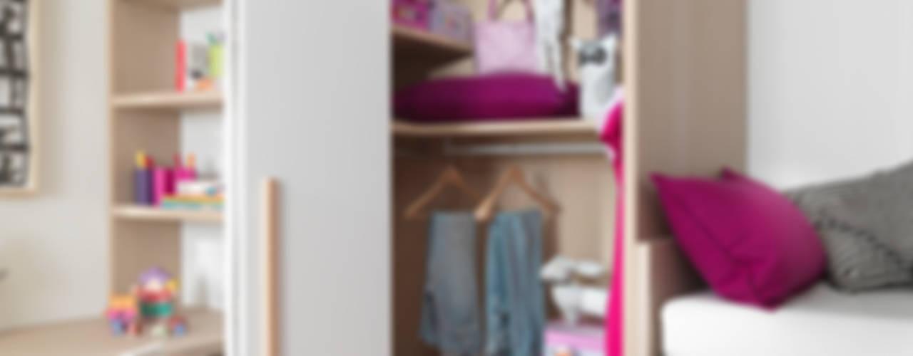 Modernes Mädchenzimmer mit viel Stauraum Moderne Kinderzimmer von MOBIMIO - Räume für Kinder Modern
