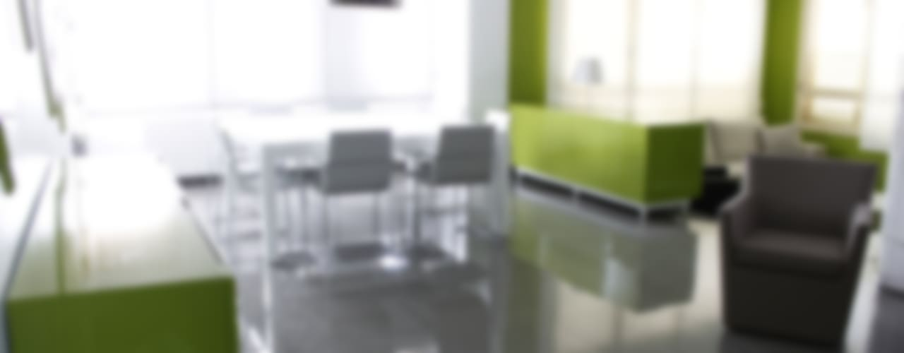 Estar-comedor Verde Chocolate ALBERT SALVIA dissenyador d'interiors Comedores de estilo moderno