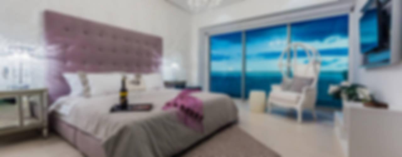 ICON VALLARTA CONDOMINIO TORRE 3 DEPTO 803: Casas de estilo  por Marusa Albarrán interior Design, Ecléctico