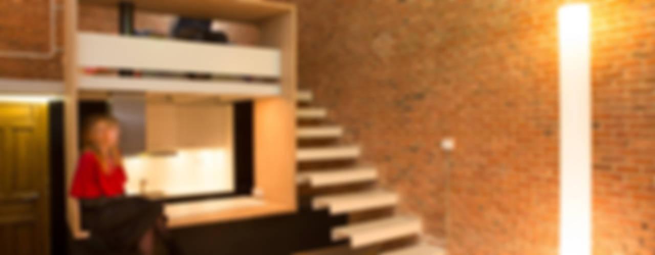 Коридор, прихожая и лестница в стиле минимализм от Beriot, Bernardini arquitectos Минимализм