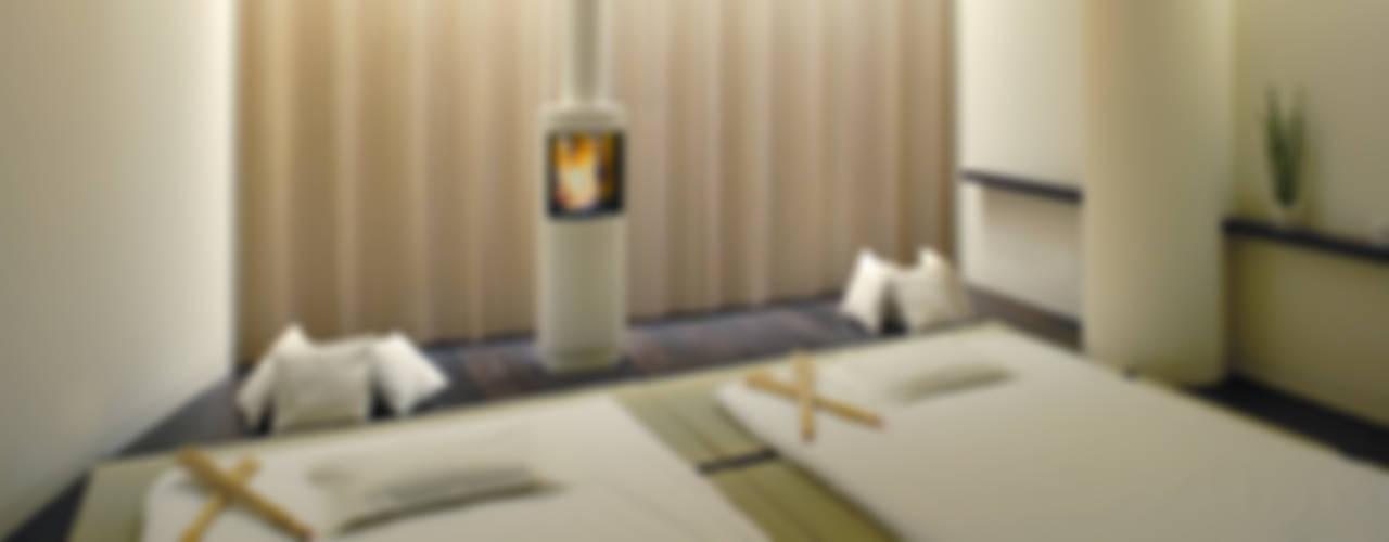 Cult Fire Feuerstellen in Suiten und SPA-Bereich eines Luxushotels: modern  von Cult Fire International Sales GmbH,Modern