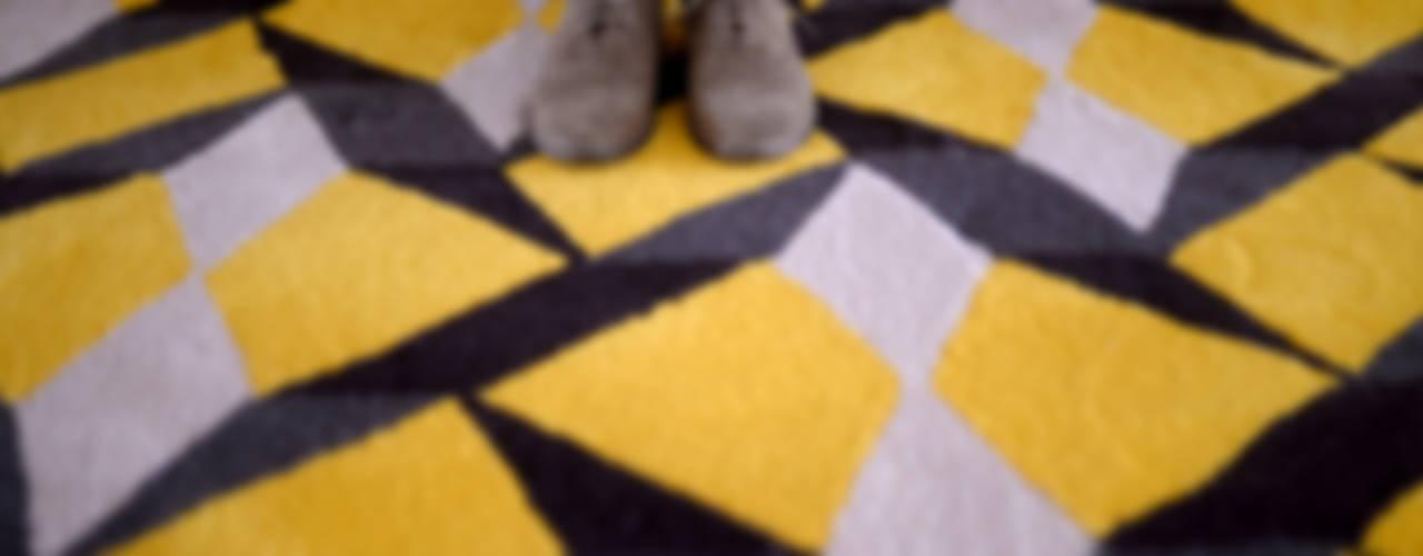 homify 牆壁與地板地毯 羊毛 Multicolored