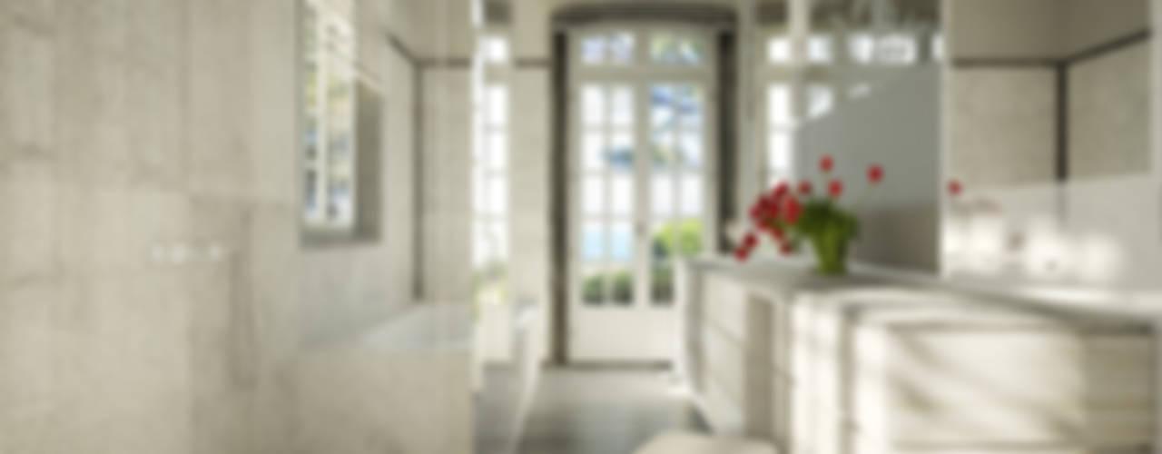 Projekty,  Łazienka zaprojektowane przez Berga&Gonzalez - arquitectura y render, Klasyczny