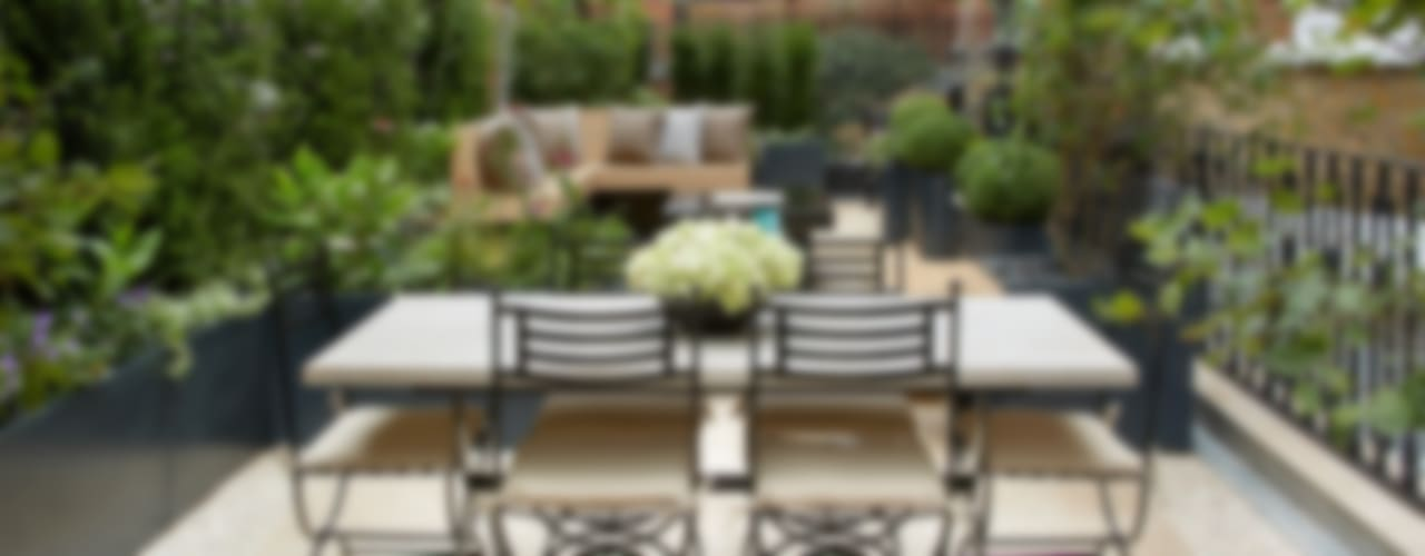 Knightsbridge Roof Terrace Espaços comerciais modernos por Aralia Moderno