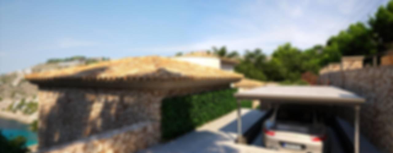 Projekty,  Garaż zaprojektowane przez Realistic-design