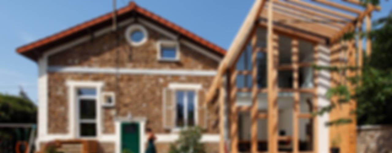 EXTENSION MAISON P Maisons rustiques par atelier eem Rustique