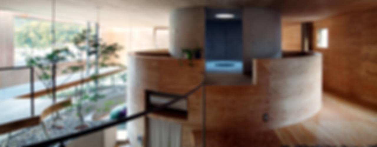 Pit house Couloir, entrée, escaliers modernes par UID Moderne