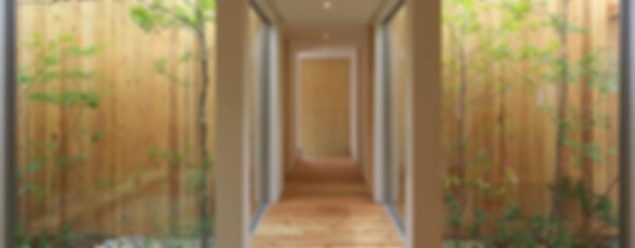 西三国の家 House in Nishimikuni モダンスタイルの 玄関&廊下&階段 の arbol モダン