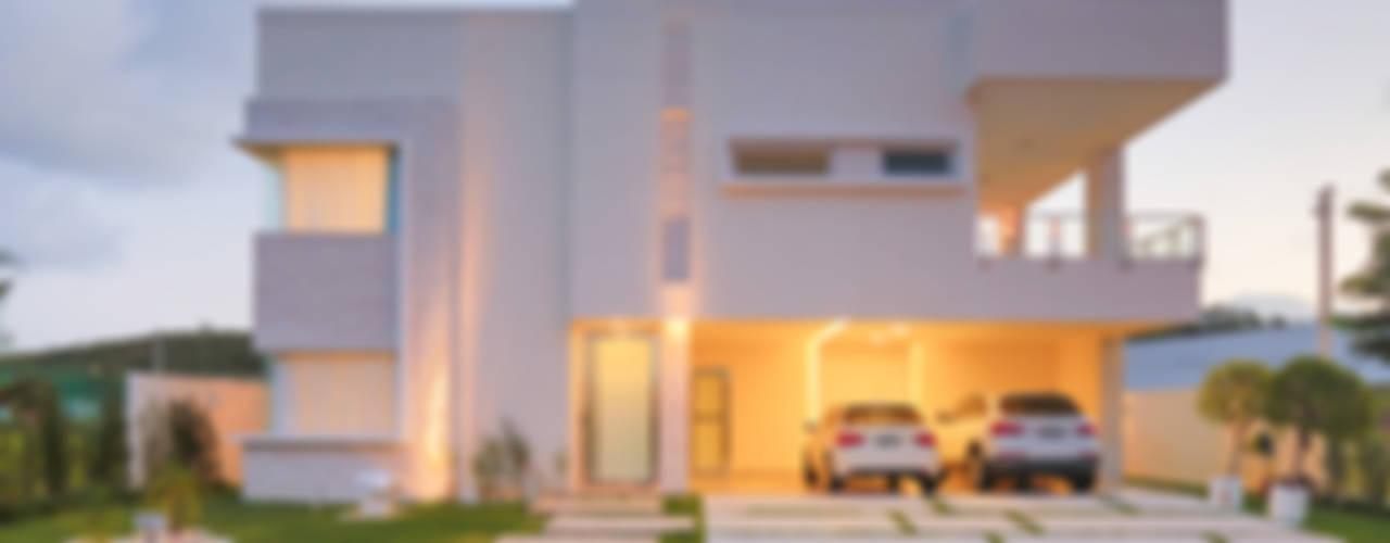 Projeto residencial de arquitetura e ambientação.: Casas  por Rita Albuquerque Arquitetura e Interiores